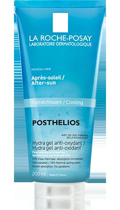 Posthelios antioksidacijski vodeni gel hladi kožu nakon izlaganja suncu. Sadrži 76% La Roche-Posay termalne vode obogaćene antioksidansima za borbu protiv slobodnih radikala, smiruje kožu i pruža 48.satnu hidrataciju. Izvrstan je za suhu kožu i kožu nakon sunčanja.