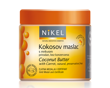Kokosov maslac s mrkvom prirodan je balzam bez konzervansa, bogat prirodnim uljima i vitaminima. Štiti i njeguje i najosjetljiviju kožu te na prirodan način štiti kožu od štetnih UV zraka, ubrzava tamnjenje i produljuje brončanu preplanulost. Osvježena, zaštićena, umirena, meka i blistava koža.