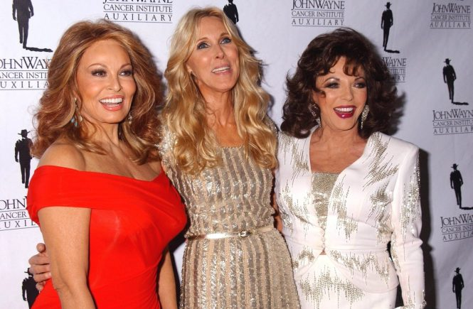 RAQUEL WELCH & ALANA STEWART & JOAN COLLINS The 26th Annual Odyessy Ball Benefiting The John Wayne Cancer Institute Beverly Hilton, Beverly Hills, CA 04-09-2011, Image: 100385007, License: Rights-managed, Restrictions: I15394CHW, Model Release: no, Credit line: Profimedia, Globe