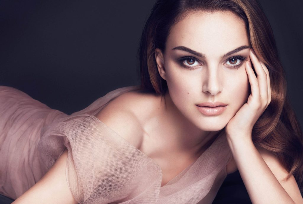 "Natalie Portman is the face of Dior's new beauty campaign ""Dior Forever""."