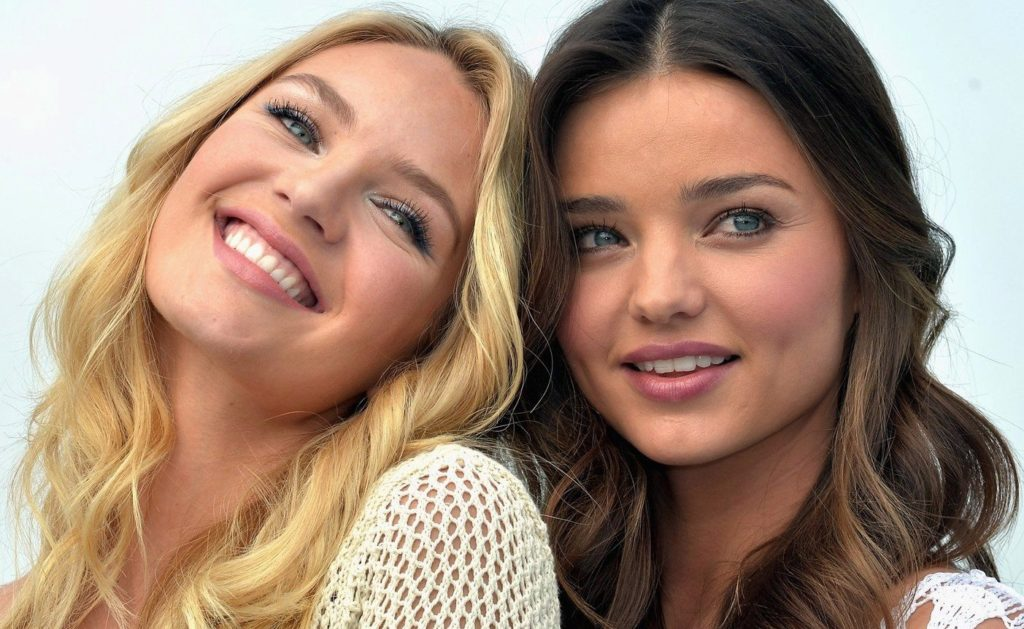 Victoria's Secret Angels Candice Swanepoel and Miranda Kerr Launch The 2012 VS Swim Collection at The Thompson Hotel on March 29, 2012 in Beverly Hills, California., Image: 126427310, License: Rights-managed, Restrictions: , Model Release: no, Credit line: Profimedia, TEMP Camerapress