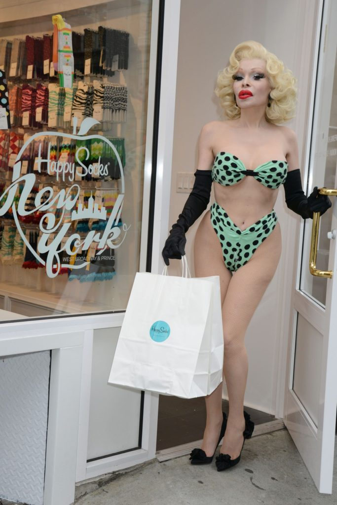 - New York, NY - Amanda Lepore Shopping at the New Happy Socks Flagship in SoHo -PICTURED: Amanda Lepore -, Image: 157926966, License: Rights-managed, Restrictions: , Model Release: no, Credit line: Profimedia, INSTAR Images