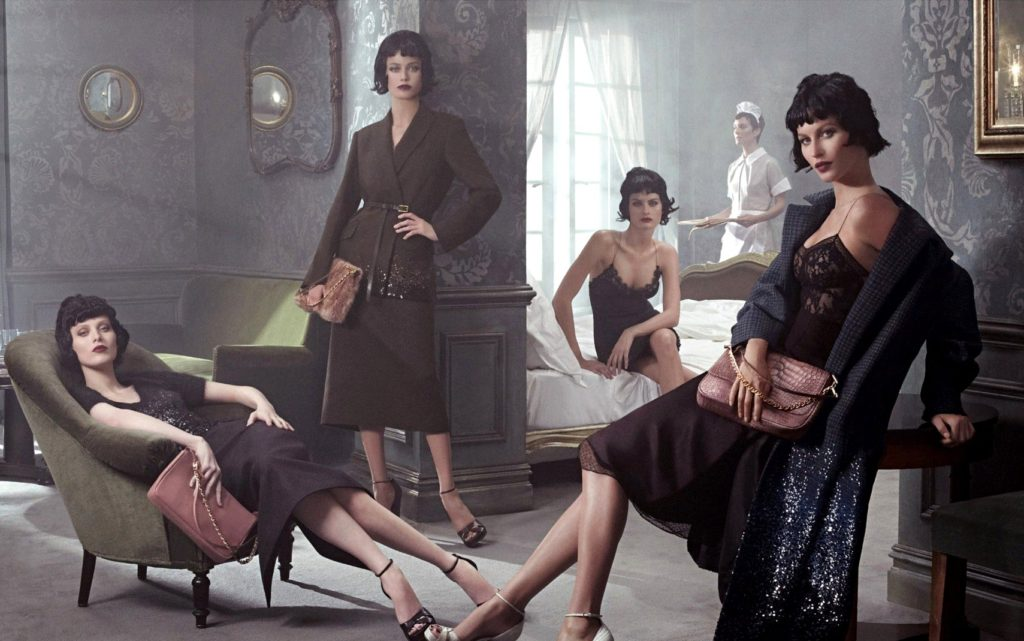 Supermodels Gisele Bundchen,Isabeli Fontana,Carolyn Murphy and Karen Elson in the ad campaign for Louis Vuitton Fall Winter 2013/2014. © Balawa Pics - 07/07/2013 - *Hands Out Pics*, Image: 165964947, License: Rights-managed, Restrictions: Pictures in this set: 003. As the promotional pictures in this set are defined as 'Hands Out', the supplier can«t be considered responsible of subsequent sales or any other legal matter concerning to the material provided. These promotional pictures has been provided without Êany compromise between the parts and it is only under the responsibility of the recipient, who acknowledges the reception of these pictures as 'Hands Out'., Model Release: no, Credit line: Profimedia, Balawa Pics