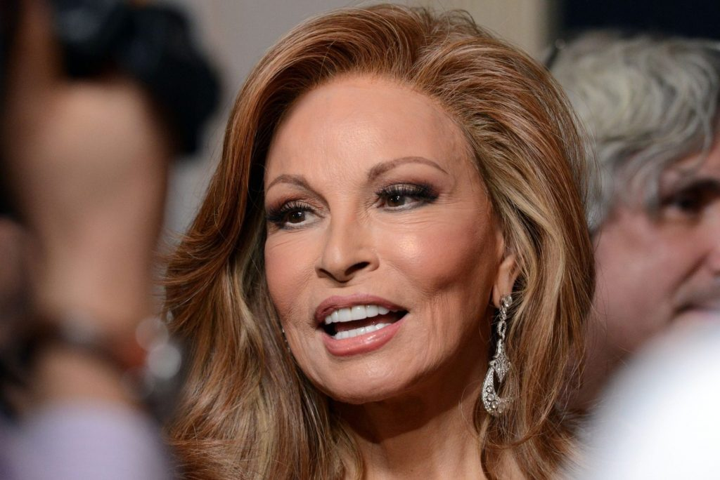 RAQUEL WELCH @ the 16th annual Costume Designers Guild awards held @ the Beverly Hilton hotel. February 22, 2014, Image: 185324024, License: Rights-managed, Restrictions: AMERICA, Model Release: no, Credit line: Profimedia, Visual