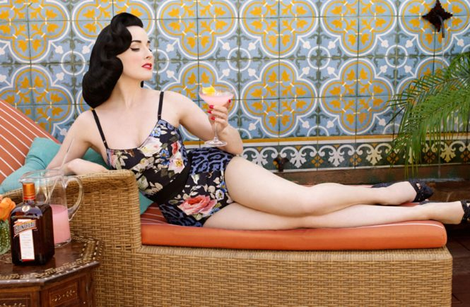 American burlesque dancer Dita von Teese stars in the pictures for 'The Art of Cocktail', a booklet of cocktail recipes by Cointreau., Image: 189907595, License: Rights-managed, Restrictions: , Model Release: no, Credit line: Profimedia, Balawa Pics