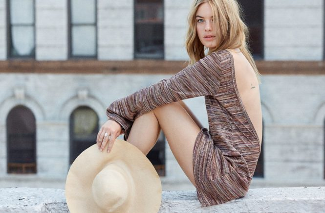 French fashion model Camille Rowe in the photoshoot for Reformation 2014 collection., Image: 199745493, License: Rights-managed, Restrictions: EDITORIAL USE ONLY, Model Release: no, Credit line: Profimedia, Balawa Pics