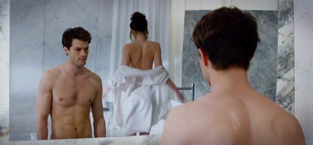 Dakota Johnson and Jamie Dornan in selected stills from official trailer of 'Fifty Shades of Grey', a drama / romance movie to be released wordlwide next February, 2015., Image: 199851534, License: Rights-managed, Restrictions: EDITORIAL USE ONLY, Model Release: no, Credit line: Profimedia, Balawa Pics