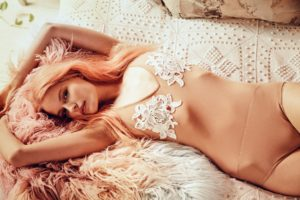 German fashion model Alena Blohm stars in 'Wanderlust' Spring 2015 collection by For Love and Lemons., Image: 215173207, License: Rights-managed, Restrictions: EDITORIAL USE ONLY, Model Release: no, Credit line: Profimedia, Balawa Pics