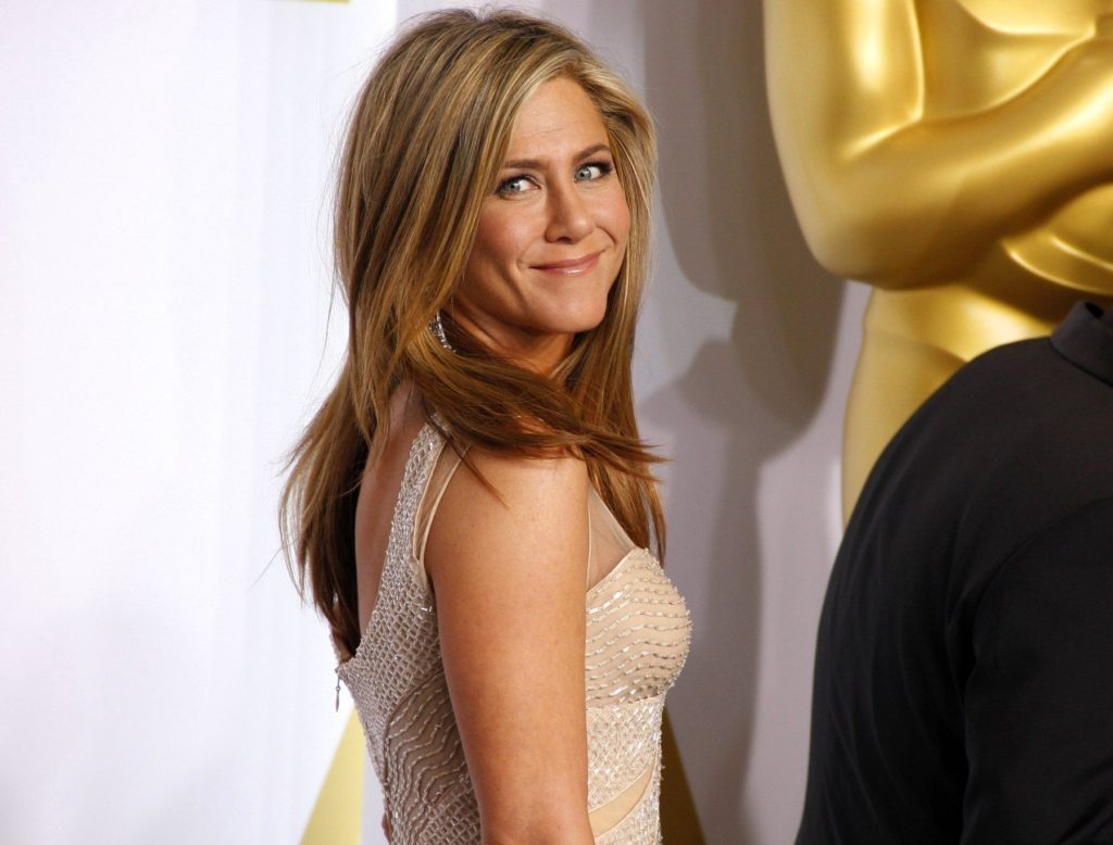 Jennifer Aniston at the 87th Annual Academy Awards - Press Room held at the Loews Hollywood Hotel in Hollywood on February 22, 2015. ., Image: 231274413, License: Rights-managed, Restrictions: NOT FOR SALE IN: USA., Model Release: no, Credit line: Profimedia, TEMP Camerapress