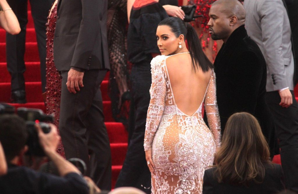 New York, NY - Part 2 - Kim Kardashian and Kanye West arrive at the 2015 Metropolitan Museum of Art's Costume Institute Gala benefit in honor of the museums latest exhibit China: Through the Looking Glass. May 4, 2015, Image: 242423088, License: Rights-managed, Restrictions: NO Brazil, Model Release: no, Credit line: Profimedia, AKM-GSI