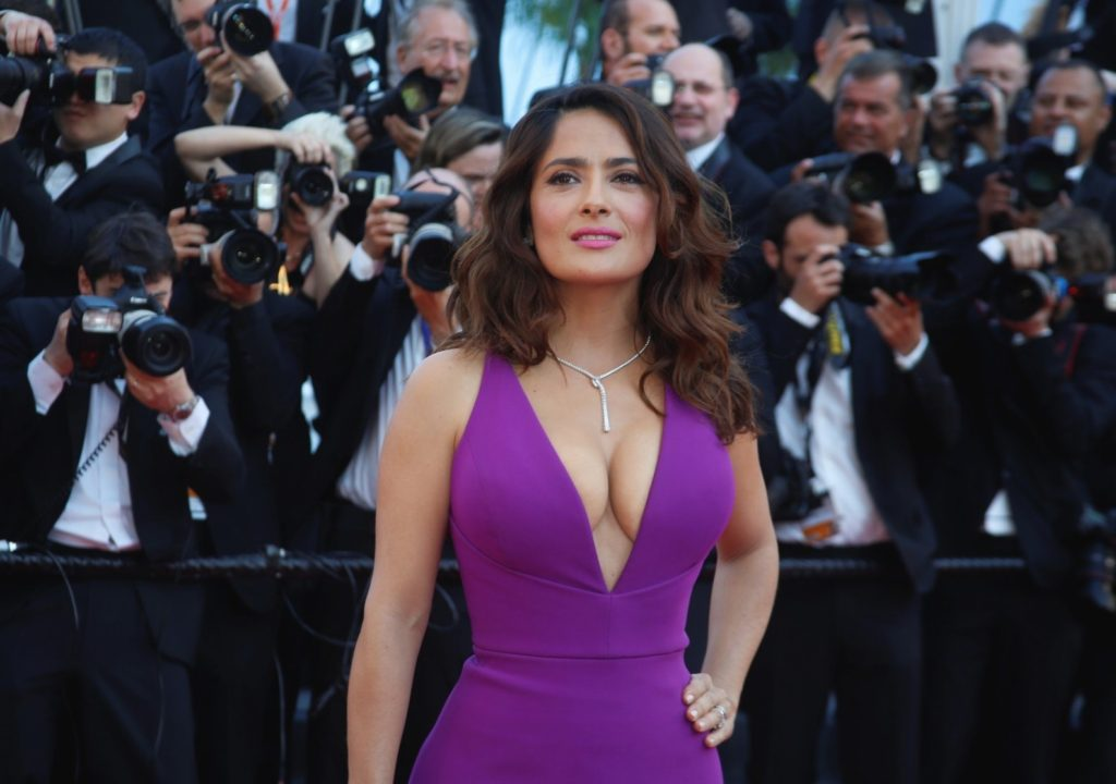 Actress Salma Hayek attends the premiere of Carol during the 68th Annual Cannes Film Festival at Palais des Festivals in Cannes, France, on 16 May 2015., Image: 245472015, License: Rights-managed, Restrictions: NOT FOR SALE IN: GERMANY., Model Release: no, Credit line: Profimedia, TEMP Camerapress
