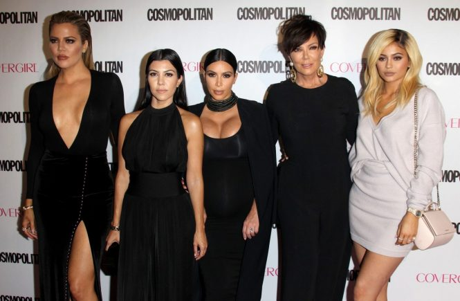 WEST HOLLYWOOD, CA - OCTOBER 12: Khloe Kardashian, Kourtney Kardashian, Kim Kardashian, Kris Jenner and Kylie Jenner at Cosmopolitan's 50th Birthday Celebration at Ysabel on October 12, 2015 in West Hollywood, California., Image: 262287106, License: Rights-managed, Restrictions: , Model Release: no, Credit line: Profimedia, Face To Face A