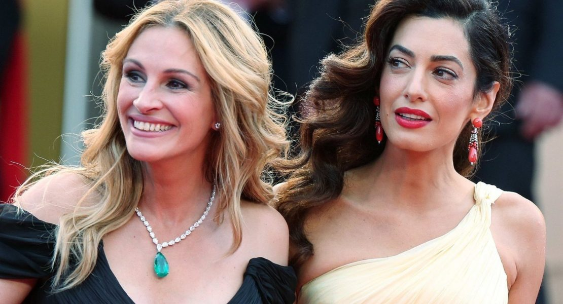 Julia Roberts and Amal Clooney attend the screening of 'Money Monster' at the annual 69th Cannes Film Festival at Palais des Festivals on May 12, 2016 in Cannes, France, Image: 284271826, License: Rights-managed, Restrictions: , Model Release: no, Credit line: Profimedia, KCS Presse