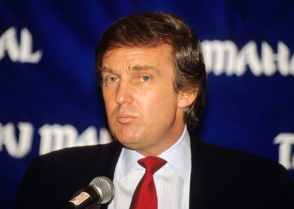 08 July 2016 - Archive: Presumptive Republican Presidential nominee Donald J.Trump. File Photos: Donald J. Trump makes remarks and answers questions on his new Atlantic City Hotel, the Trump Taj Mahal, at a press conference in Washington, DC on March 1, 1989., Image: 293627138, License: Rights-managed, Restrictions: , Model Release: no, Credit line: Profimedia, ADMedia