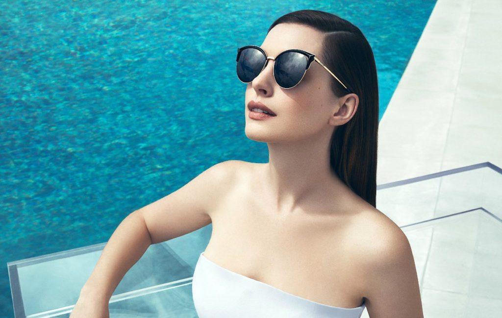 Anne Hathaway for Bolon Eyewear.