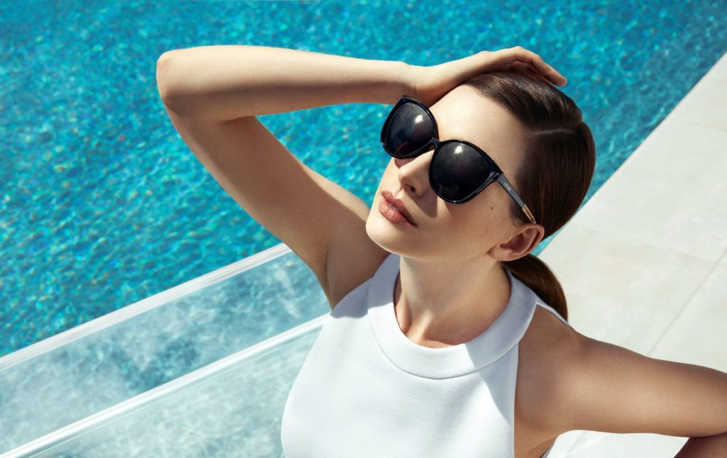 American actress Anne Hathaway poses for Spring Summer 2017 global advertising campaign of Bolon Eyewear., Image: 310453774, License: Rights-managed, Restrictions: EDITORIAL USE ONLY, Model Release: no, Credit line: Profimedia, Balawa Pic