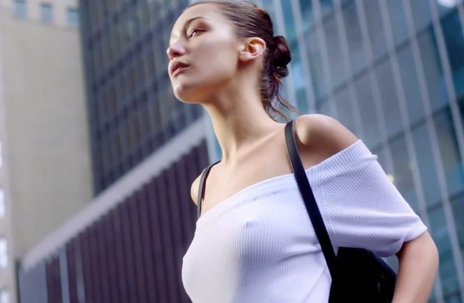 American fashion model Bella Hadid in the print ads and stills of Donna Karan New York Spring Summer 2017 advertising campaign., Image: 314572491, License: Rights-managed, Restrictions: EDITORIAL USE ONLY, Model Release: no, Credit line: Profimedia, Balawa Pics