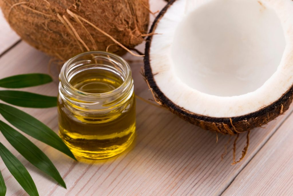 Coconut and coconut oil, Image: 316887293, License: Royalty-free, Restrictions: , Model Release: no, Credit line: Profimedia, Alamy