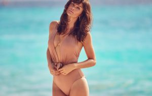 , ,03, MAY 2017. Supermodel Helena Christensen takes on warm weather style for the Summer 2017 campaign from British fashion retailer Debenhams. The new advertisements focus on four unique trends for the colorful shots captured by Max Abadian.In one shot, Helena flaunts her supermodel figure in an one-piece swimsuit with a plunging neckline. And in another image, the Danish beauty poses in a tropical inspired Bardot top with ruffled bikini bottoms. . ©DJ / LAN - 03/5/17 **HANDS OUT pics** ©DJ / LAN - 3/5/17, Image: 331744571, License: Rights-managed, Restrictions: Pictures in this set: 4, Model Release: no, Credit line: Profimedia, Target Press