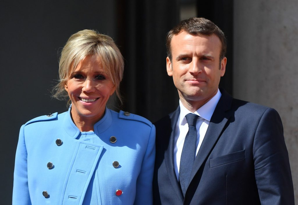 French president Emmanuel Macron and his wife Brigitte Macron after the ceremony at the Elysee Presidential Palace on May 14, 2017 in Paris, France. Macron was elected President of the French Republic on May 07, 2017 with 66,1 % of the votes cast., Image: 332257320, License: Rights-managed, Restrictions: , Model Release: no, Credit line: Profimedia, Abaca