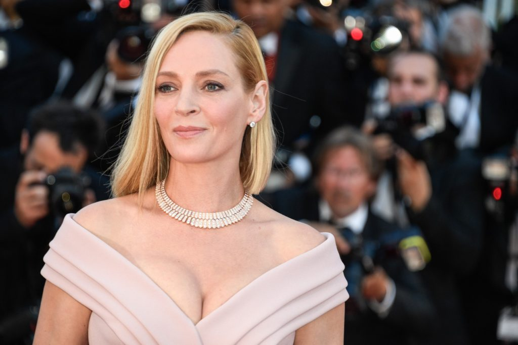 Uma Thurman attending the Ouverture / Les Fantomes d'Ismael premiere during the 70th Cannes Film Festival on May 17, 2017 in Cannes, France., Image: 332665236, License: Rights-managed, Restrictions: , Model Release: no, Credit line: Profimedia, Abaca