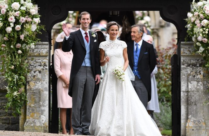 ENGLEFIELD- UK -20th May 2017: The wedding of Pippa Middleton, sister of Kate, Duchess of Cambridge takes place at St Mark's Church Englefield in Berkshire Pippa marries James Matthews Present at the ceremony were her sister, Kate with Prince William and Prince Harry Prince George and Princess Charlotte were pageboy and bridesmaids Pool Photo supplied by Ian Jones, Image: 332988539, License: Rights-managed, Restrictions: , Model Release: no, Credit line: Profimedia, Allpix Press