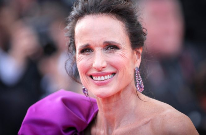 Andie MacDowell attends the 'The Meyerowitz Stories' screening during the 70th annual Cannes Film Festival at Palais des Festivals on May 21, 2017 in Cannes, France, Image: 333108729, License: Rights-managed, Restrictions: Worldwide rights, Model Release: no, Credit line: Profimedia, Crystal pictures