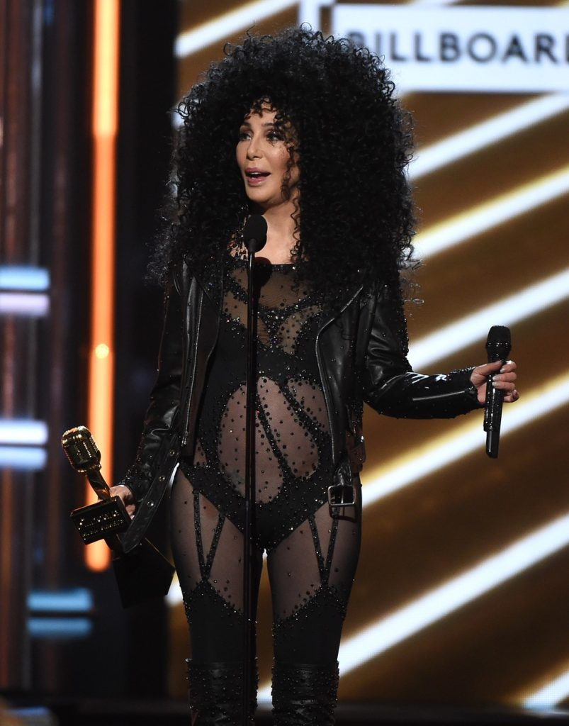 LAS VEGAS, NV - MAY 21: Cher accepts the Icon Award on the 2017 Billboard Music Awards at the T-Mobile Arena on May 21, 2017 in Las Vegas, Nevada., Image: 333142412, License: Rights-managed, Restrictions: *** World Rights ***, Model Release: no, Credit line: Profimedia, SIPA USA