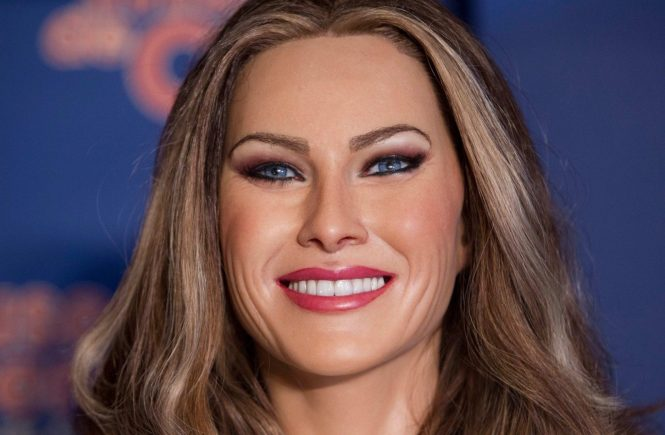 This pic: Melania Trump wax figure **UK ONLINE USAGE FEE 1st PIC-£40, 2nd PIC-£20, THEN £10 PER PIC INCLUDING VIDEO GRABS. - NO PRICE CAP - VIDEO £50** JOB REF: 20297 DMS DATE: 20.07.17 **MUST CREDIT SOLARPIX.COM AS CONDITION OF PUBLICATION** **CALL US ON: +34 952 811 768**, Image: 342539581, License: Rights-managed, Restrictions: **MUST CREDIT SOLARPIX.COM OR DOUBLE FEE WILL BE CHARGED**, Model Release: no, Credit line: Profimedia, SOLARPIX