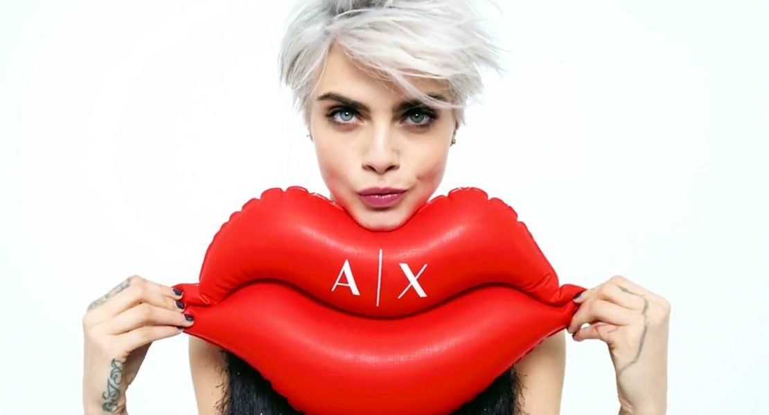 British fashion model Cara Delevingne stars in Armani Exchange Fall Winter 2017 advertising campaign., Image: 342870153, License: Rights-managed, Restrictions: EDITORIAL USE ONLY, Model Release: no, Credit line: Profimedia, Balawa Pics