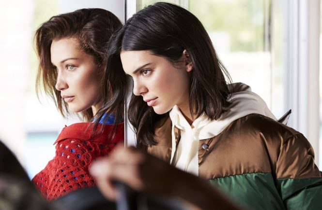 American models Kendall Jenner and Bella Hadid star in Ochery Fall 2017 advertising campaign., Image: 342891624, License: Rights-managed, Restrictions: EDITORIAL USE ONLY, Model Release: no, Credit line: Profimedia, Balawa Pics