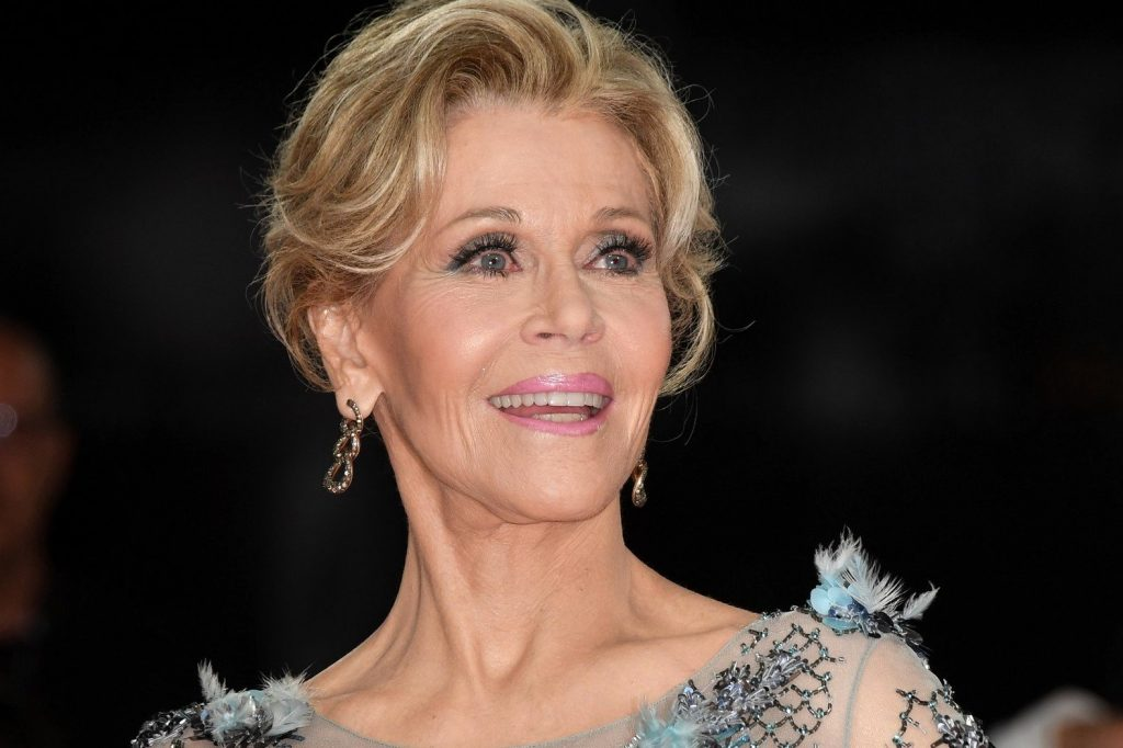 Jane Fonda during Our Souls At Night red carpet - 74th Venice Film Festival, Italy - 01 Sep 2017, Image: 348105197, License: Rights-managed, Restrictions: UK and ITALY OUT- Fee Payable Upon Reproduction - For queries contact Avalon.red - sales@avalon.red London: +44 (0) 20 7421 6000 Los Angeles: +1 (310) 822 0419 Berlin: +49 (0) 30 76 212 251, Model Release: no, Credit line: Profimedia, UPPA News