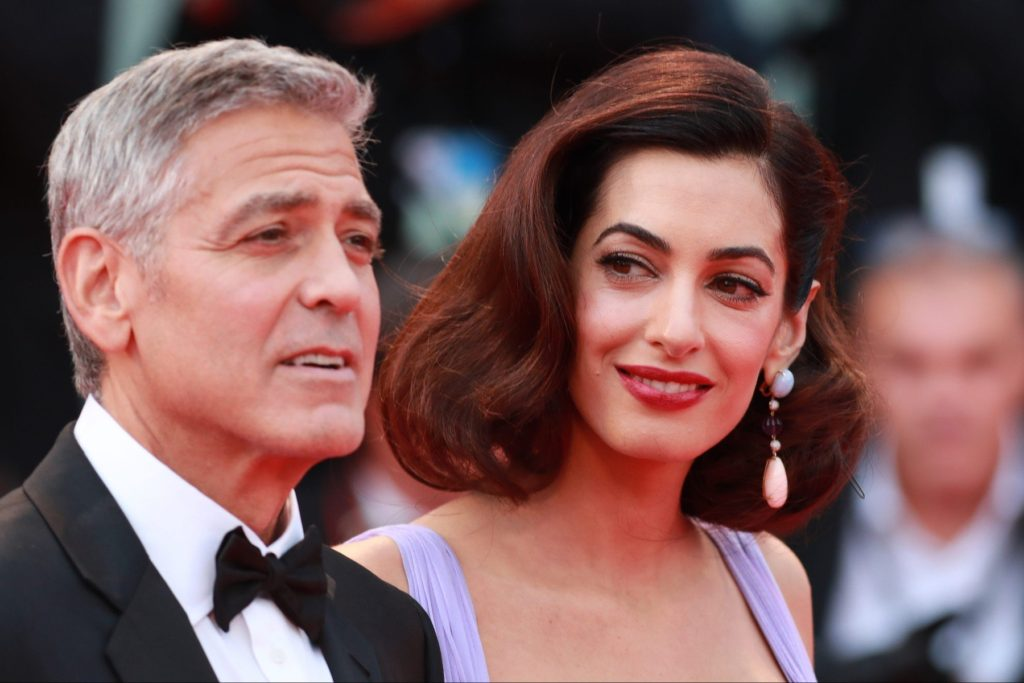 ; Actors Matt Damon and Julianne Moore with US Director George Clooney and his wife Amal Clooney arrive on the Red Carpet for the screening of the 'Suburbicon' photocall during the 74th Venice Film Festival on September 2, 2017 in Venice, Italy Pictured: George Clooney, Amal Clooney, Image: 348123148, License: Rights-managed, Restrictions: , Model Release: no, Credit line: Profimedia, MAXPPP