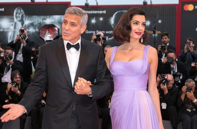 George Clooney and Amal Clooney attend the premiere of 'Suburbicon' during the 74th Venice Film Festival at Palazzo del Cinema in Venice, Italy, on 02 September 2017., Image: 348138128, License: Rights-managed, Restrictions: NOT FOR SALE IN: GERMANY., Model Release: no, Credit line: Profimedia, TEMP Camerapress