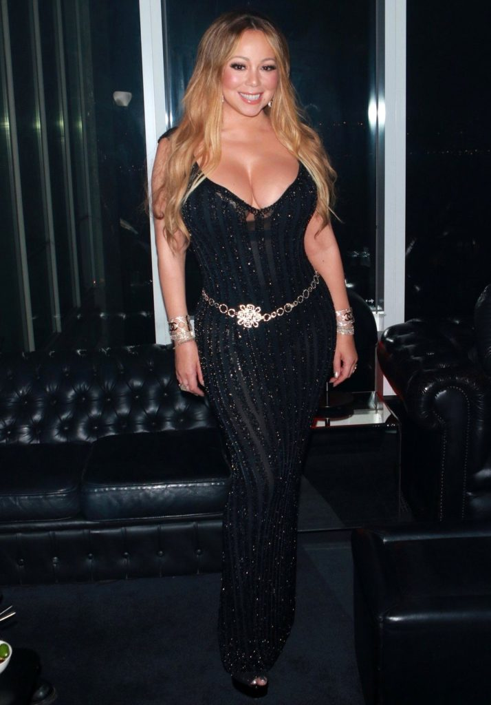 New York, NY - Guest inside the after party for the V Magazine Dinner in honor of Karl Lagerfeld Le Bain held at The Standard High Line in New York City. Pictured: Mariah Carey BACKGRID USA 23 OCTOBER 2017, Image: 353777443, License: Rights-managed, Restrictions: , Model Release: no, Credit line: Profimedia, AKM-GSI