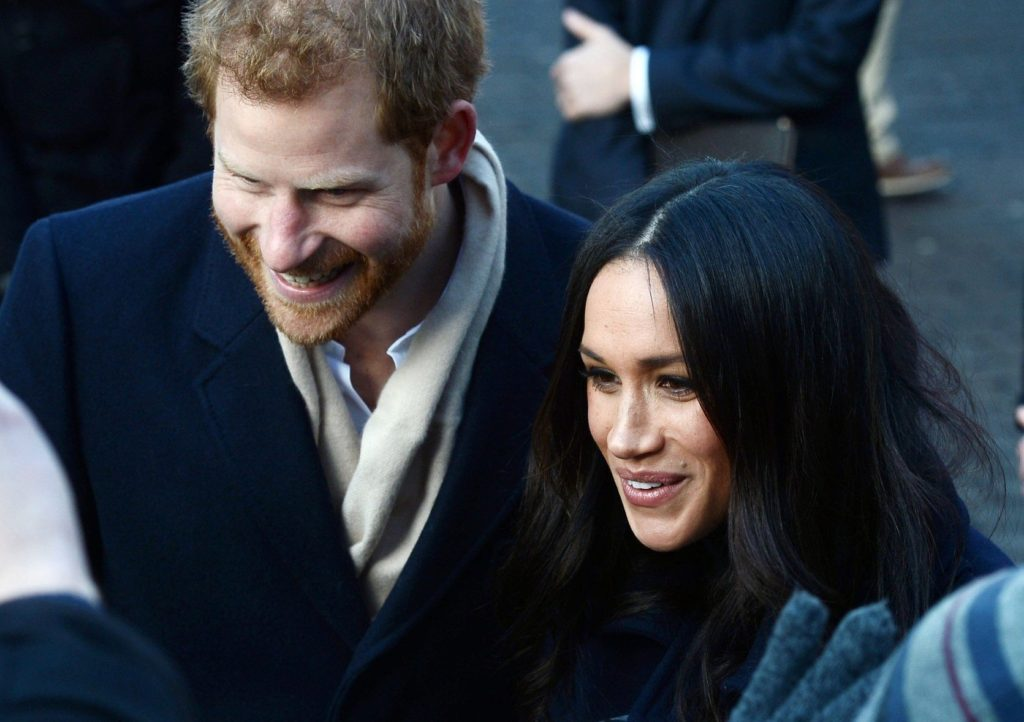 Prince Harry and Meghan Markle during their first walk about in Nottingham, Image: 356818988, License: Rights-managed, Restrictions: , Model Release: no, Credit line: Profimedia, TEMP Camerapress