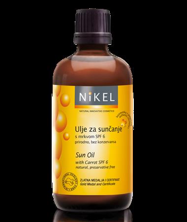 Ulje za sunčanje s mrkvom koncentrat je bogat vitaminima i karotenoidima, prirodnim putem štiti kožu odbijajući do 25% sunčevih zraka. Svojim antioksidativnim djelovanjem neutralizira štetne učinke UV zraka, djeluje pomlađujuće, regenerativno i umirujuće te ubrzava tamnjenje i produljuje preplanulost.
