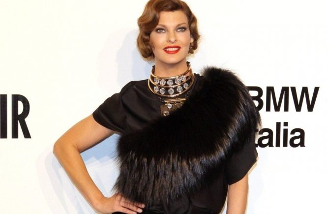Linda Evangelista attending the amfAR Milano 2009 Gala on 28th of september 2009. The amfAR convention Main event on the 28th of September was the TOP event of the VIP's in favour to the Aids Foundation amfAR during the Milano fashion week. Main Sponsor for 12 years is Dr. Hermann_Buehlbecker owner of the LAMBERTZ group together with Liz_Taylor and Sharon_Stone. The highlight at the Cocktail party was the presentation of the Lambertz calendar witch was shooted in Milano. The feedback and vibrancy was from all attendend celebrities was sensationel. The sweet Lambertz goodies during the party had there own success! Only a few of the celebrities were able to get one of the wonderful calendars. The guestlist was as predicted high class. Janet_Jackson, Linda_Evangelista, Dita_von_Teese, Ruppert_Everett as well as the owner of the Fashion labels of Armani, Missoni, and Versace. At the table of Dr. Hermann_Buehlbecker were placed this year Celebrities like Top-Model Sara_Nuru, Lothar_Mathaeus and wife Liliana and pop group No_Angels. amfAR was founded in 1985 from Aids scientist's and supported by many celebrities. From the Start of fighting against Aids the biggest US Charity organisation accumulated more then 100 million US Dollar and helped over 2000 research and science utilities., Image: 38893811, License: Rights-managed, Restrictions: , Model Release: no, Credit line: Profimedia, Face To Face A