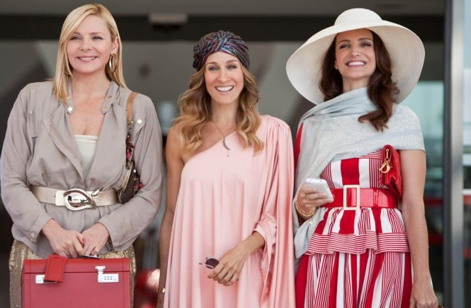 14.04.10 'Sex and the City 2' Pictured: Kim Cattrall, Sarah Jessica Parker and Kristin Davis, Image: 56605769, License: Rights-managed, Restrictions: PICTURE SUPPLIED BY: PLANET PHOTOS, Model Release: no, Credit line: Profimedia, Planet