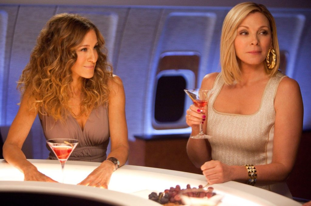 (L-r) SARAH JESSICA PARKER as Carrie Bradshaw and KIM CATTRALL as Samantha Jones in New Line Cinema comedy 'SEX AND THE CITY 2', a Warner Bros. Pictures release., Image: 76050152, License: Rights-managed, Restrictions: , Model Release: no, Credit line: Profimedia, TEMP Camerapress