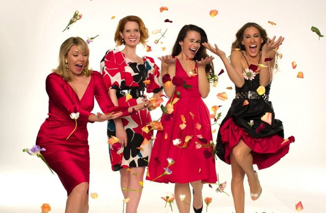 SEX AND THE CITY: THE MOVIE, Kim Cattrall, Cynthia Nixon, Kristin Davis, Sarah Jessica Parker, 2008., Image: 97185222, License: Rights-managed, Restrictions: For usage credit please use; ©New Line Cinema/Courtesy Everett Collection, Model Release: no, Credit line: Profimedia, Everett