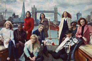 HELEN MIRREN, Grace Coddington, Darcey Bussell and Tracey Emin are among the women shot by Annie Leibovitz for the new M&S campaign , The high street retailer, which isn't holding back in its bid to turn its fortunes around this year, has included Olympic Gold winning-Nicola Adams; Brick Lane author Monica Ali; 2011's Nurse of the Year Helen Allen; supermodel Karen Elson; singers Ellie Goulding and Laura Mvula; burns survivor, television presenter and charity campaigner Katie Piper; and Jasmine Whitbread - ceo of Save the Children - in the mix to model it's autumn/winter 2013 collection. Settings include a boat in front of Tower Bridge; in the English countryside (with Elson holding a lamb); in a London artist's studio and a traditional country house., Image: 170174637, License: Rights-managed, Restrictions: , Model Release: no, Credit line: Profimedia, Thunder Press