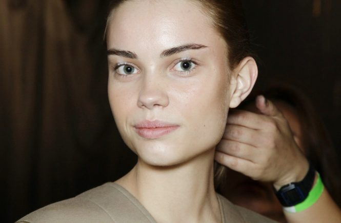 Sept. 11, 2013 - New York, USA - Zero Maria Cornejo.MODEL ON BACKSTAGE, BEAUTY, HAIR EYES LIPS NAILS MAKEUP WOMAN, NEW YORK FASHION WEEK 2014 WOMEN READY TO WEAR FOR SPRING SUMMER, FASHION SHOW , PRET A PORTER, FR�œHLING FRUEHLING SOMMER WOMEN.NYPAPSS14, Image: 173589614, License: Rights-managed, Restrictions: * Austria Rights Out *, Model Release: no, Credit line: Profimedia, Zuma Press - Archives