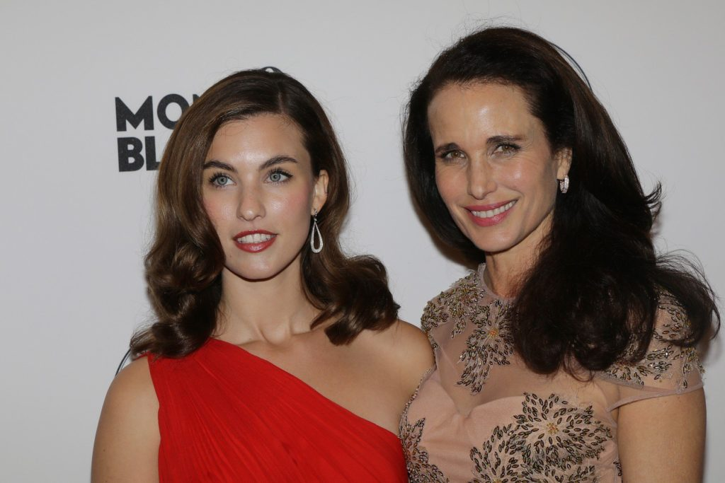 ANDIE MACDOWELL and her daughter RAINEY QUALLEY attend the PRIX MONTBLANC 2013 at the Konzerthaus am Gendarmenmarkt Berlin. Oct. 30,2013, Image: 175631384, License: Rights-managed, Restrictions: , Model Release: no, Credit line: Profimedia, DDP