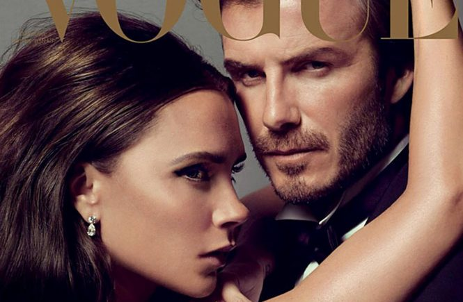 British couple David and Victoria Beckham front the cover Vogue Paris December 2013 / January 2014 issue. 03/12/2013, Image: 178291968, License: Rights-managed, Restrictions: EDITORIAL USE (HO) / 013 pics., Model Release: no, Credit line: Profimedia, Balawa Pics