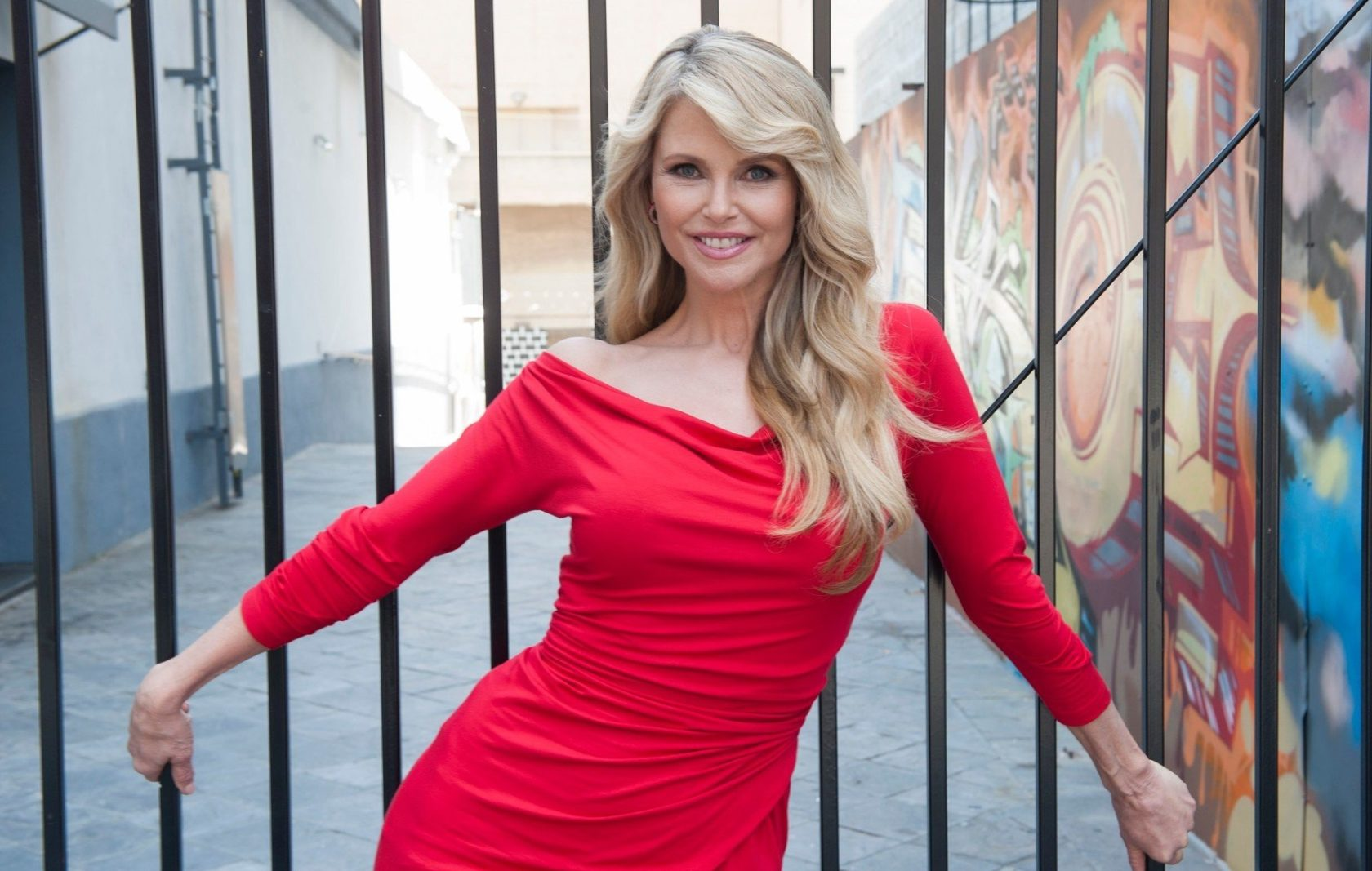 May 7, 2012 - Hollywood, California, U.S. - Model actress CHRISTIE BRINKLEY poses for photos in a red dress outside the Pantages Theatre in Hollywood before the opening of the touring production of the musical 'Chicago.', Image: 184261036, License: Rights-managed, Restrictions: , Model Release: no, Credit line: Profimedia, Zuma Press - Archives
