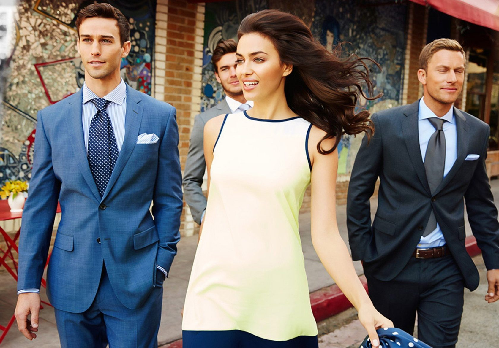 Model Irina Shayk and actor Patrick Dempsey in the spring summer 2014 ad campaign of Sacoor Brothers, Image: 186416072, License: Rights-managed, Restrictions: , Model Release: no, Credit line: Profimedia, Thunder Press