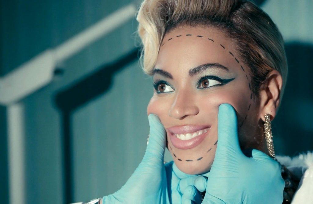 Brooklyn, New York. USA, 2014. Beyonce in the music video for the song 'Pretty Hurts' (©Columbia). The video features a cameo performance from actor Harvey Keitel and depicts Knowles as an apparently trouble beauty queen addicted to pills and vomiting in a toilet. She is Miss 'Third Ward', which is the area of Huston, Texas where Beyonce grew up. There are also images related to plastic surgery and the maintenance of physical beauty. The video finishes with archive footage of Beyonce winning an award as a young girl. Captioned 25 April 2014., Image: 191893218, License: Rights-managed, Restrictions: RESTRICTED RIGHTS Supplied by LMK Media. Editorial Only. LMK Media is not the copyright owner of these Film or TV stills but provides a service only for recognised media outlets ., Model Release: no, Credit line: Profimedia, Landmark