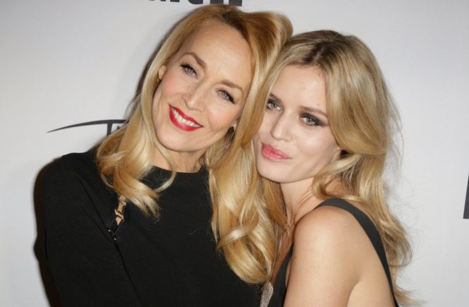 Jerry Hall and Georgia May Jagger attending Angel by Thierry Mugler party held at 'Printemps', in Paris, France on January 30, 2015., Image: 216847626, License: Rights-managed, Restrictions: , Model Release: no, Credit line: Profimedia, Abaca