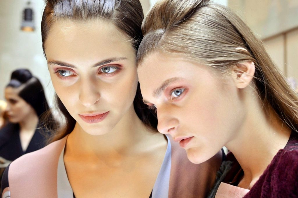 Feb. 28, 2015 - Milan, ITALY - Antonio Marras. Beauty Backstage, HAIR, LIPS, FACE, BBT, MODEL ON BACKSTAGE, MILAN FASHION WEEK 2015 WOMEN READY TO WEAR FOR FALL WINTER, RTW, DEFILE, FASHION SHOW RUNWAY COLLECTION, PRET A PORTER, MODELWEAR, MODESCHAU LAUFSTEG HERBST, AUTUMN, WOMEN MAILAND, MILANO ITALY.MILPAPFW15, Image: 229506514, License: Rights-managed, Restrictions: * Austria Rights Out *, Model Release: no, Credit line: Profimedia, Zuma Press - Archives
